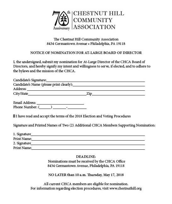 2018 Board of Director Nomination Form